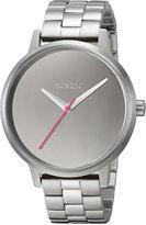Nixon Women's 'Kensington' Quartz Stainless Steel Casual Watch, Color:Silver-Toned (Model: A0992633-00)