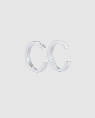 Elli Jewelry Earrings Earcuff Organic Look Minimal Basic adjustable from 925 Sterling Silver