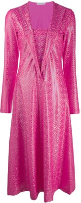 Saks Potts Shimmer Dotted Dress