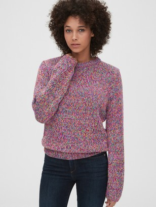 Gap Multicolor Marled Crewneck Sweater