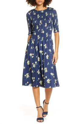 Ali & Jay Barnsdall Floral Smocked Midi Dress