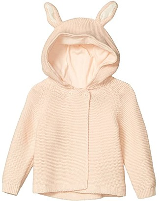 Stella Mccartney Kids Knit Hoodie Cardigan with Ears (Infant) (Pink) Girl's Clothing