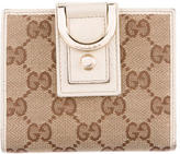 Gucci GG Canvas Abbey Compact Wallet