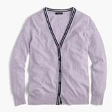 J.Crew Classic V-neck tipped cardigan sweater