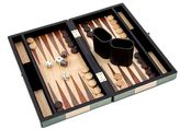 Bey-Berk 12-in. Wooden Backgammon Set
