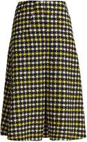 DURO OLOWU Napoli check-print pleated A-line skirt