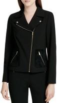 Calvin Klein Mixed Media Moto Jacket