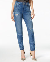 GUESS Medium Wash Distressed Skinny Jeans