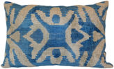 Orientalist Home Cascade 16x24 Silk-Blend Pillow, Blue