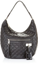 Lucille Quilted Hobo, Jet
