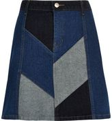River Island Womens Denim patchwork mini skirt