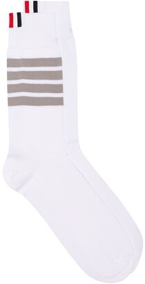 Thom Browne 4-Bar Stripe Cotton Socks