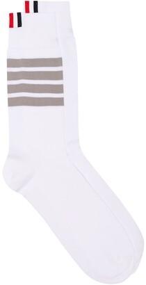 Thom Browne 4-Bar Stripe Cotton Socks