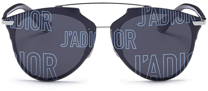 Christian Dior 'J'adior Reflected' logo lens panto sunglasses