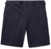 Burberry - Stretch-cotton Seersucker Shorts