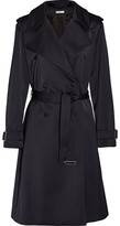 Lanvin Satin Trench Coat - Midnight blue