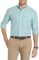 Izod Essential Windowpane Long-Sleeve Shirt