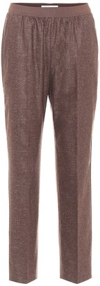 Agnona Mohair and wool-blend straight pants
