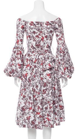 Caroline Constas Printed Off-The-Shoulder Dress