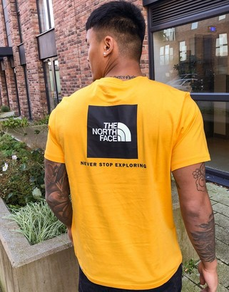 The North Face Red Box t-shirt in yellow