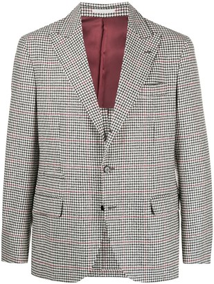 Brunello Cucinelli Houndstooth Single-Breasted Jacket