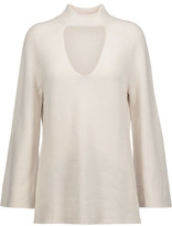Halston Cutout Wool And Cashmere-Blend Turtleneck Sweater