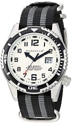Momentum Men's Sports Watch | M50 Nylon Dive Watch by | Stainless Steel Watches for Men | Sapphire Crystal Analog Watch with Japanese Movement | Water Resistant (500M/1650FT) Classic Watch - Lume / 1M-DV52L7S