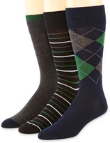 JCPenney Stafford 3-pk. Cotton-Rich Crew Socks