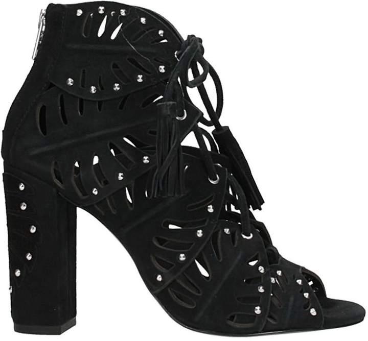 Ash Lilia Sandals In Black Suede