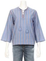Vanessa Bruno Galip Tie Front Stripe Shirt