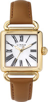 Links of London 6010.0426 Driver gold-plated leather watch