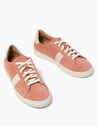 Marks and Spencer Suede Lace Up Side Stripe Trainers