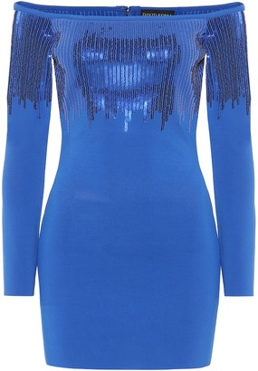 David Koma Embellished off-the-shoulder dress