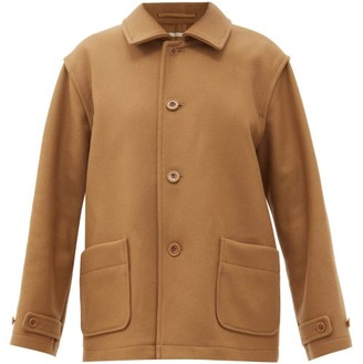 Chimala Patch-pocket Wool-blend Twill Coat - Camel
