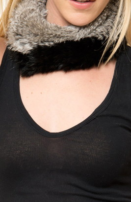 Love Token Adam Genuine Rabbit Fur Snood