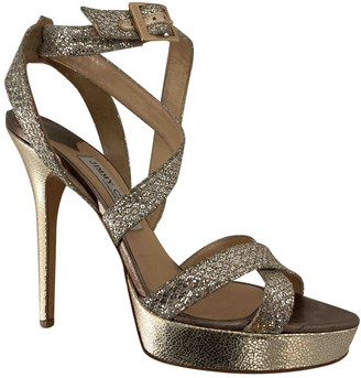 Jimmy Choo Metallic Glitter Sandals