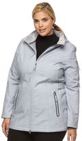 Free Country Plus Size Hooded Side Tabs Soft Shell Jacket