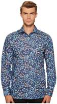 Eton Contemporary Fit Bird Print Shirt Men's Clothing