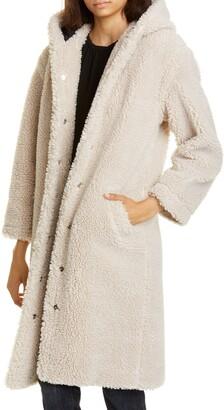 BA&SH Filip Hooded Teddy Coat