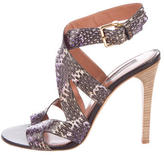 Derek Lam Multicolor Snakeskin Sandals