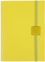 Undercover Recycled Leather Notebook Lined - Lemon - Midi