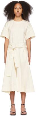 3.1 Phillip Lim Off-White Side-Tie Front Dress