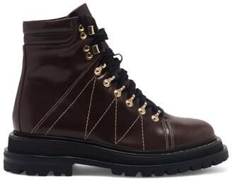 Sandro Paris Leather Lace-Up Boots