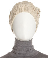 Hat Attack Tie-Bow Cable Beanie, Oat