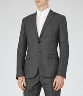 Reiss Reiss Host B - Wool Notch Lapel Blazer In Grey, Mens