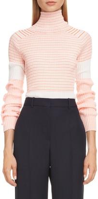 Victoria Beckham Mixed Stripe Colorblock Sweater
