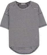 Rag & Bone Valley Striped Linen And Modal-blend T-shirt - Navy