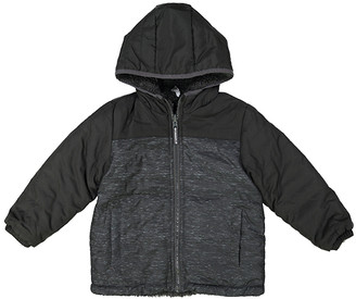 London Fog Boys' Windbreakers and Shell Jackets BLACK - Black Reversible Midweight Windbreaker - Infant & Toddler