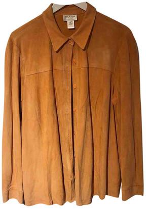 Oscar de la Renta Orange Suede Jacket for Women Vintage
