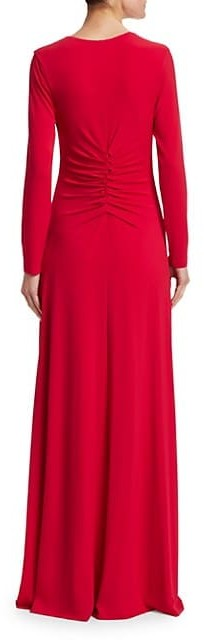 Thumbnail for your product : Halston V-Neck Ruched Jersey Gown